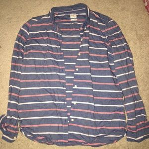 Women's Gap Stripped Button Down